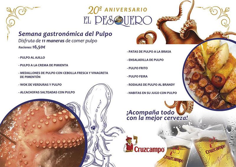 Semana gastronómica del Pulpo